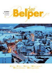 Dezember 2013 - Der Belper