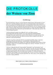 DIE PROTOKOLLE der Weisen von Zion - Deutschelobby