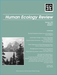 Human Ecology Review