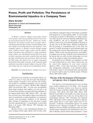 Power, Profit and Pollution - Human Ecology Review