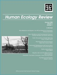 Public Perceptions of Global Warming - Human Ecology Review