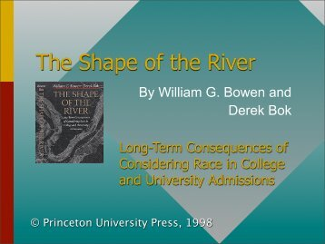 The Shape of the River: Diversity in Higher Education - Humanismus