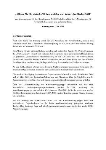 Allianz für die wirtschaftlichen, sozialen und kulturellen Rechte 2011