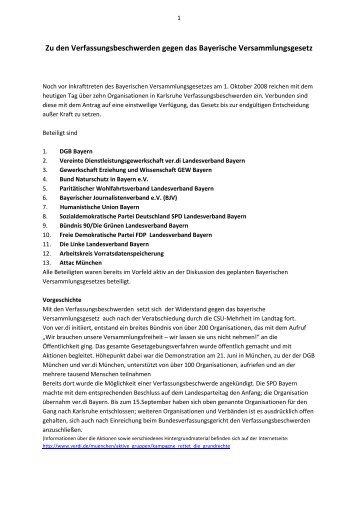 Zu den Verfassungsbeschwerden gegen das Bayerische ...