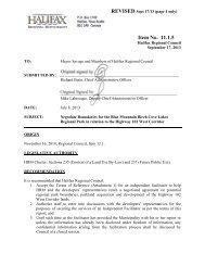 11.1.5 Negotiate Boundaries for the Blue Mountain Birch - Halifax ...