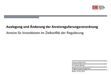 Dr. Andrea Berndt, Deutsche Bahn AG