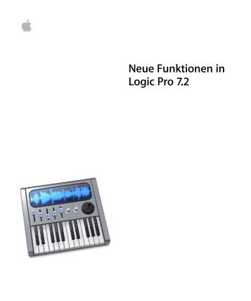Neue Funktionen in Logic Pro 7.2 - Support - Apple