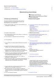 Bekanntmachung Ausschreibung - Wilnsdorf