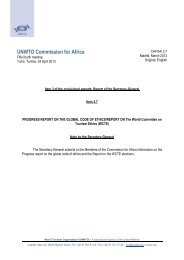 Progress report on the Global Code of Ethics_Report on WCTE ...