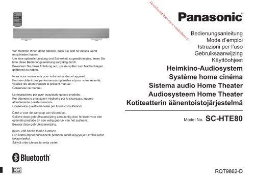 Heimkino-Audiosystem Système home cinéma ... - Vanden Borre