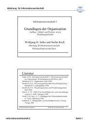 Grundlagen der Organisation - Institute for Information Business