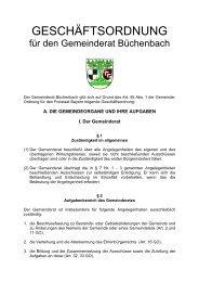 GESCHÄFTSORDNUNG - Gemeinde Büchenbach