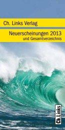 Gesamtverzeichnis Herbst 2013 - Ch. Links Verlag