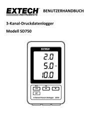 BENUTZERHANDBUCH 3-Kanal-Druckdatenlogger Modell SD750