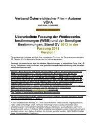 Geringfügige Änderung der WBB, beschlossen von der GV - VÖFA