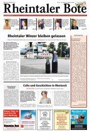 Rheintaler Winzer bleiben gelassen - Aktuelle Ausgabe