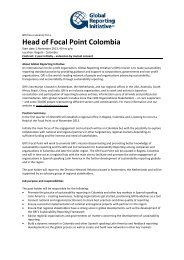 Head of Focal Point Colombia - Global Reporting Initiative