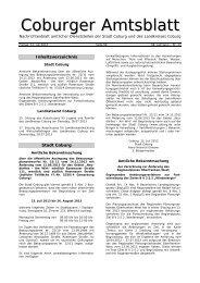 Coburger Amtsblatt Nr. 23 vom 12.07.2013 - Stadt Coburg
