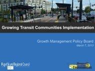 Growing Transit Communities Implementation - Puget Sound ...