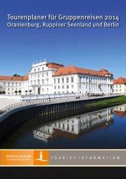 Tourenplaner für Gruppenreisen 2014 - Hotel an der Havel