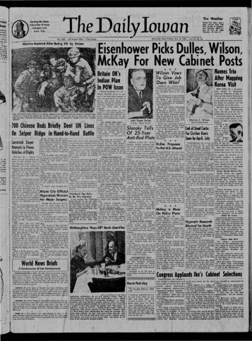 (Iowa City, Iowa), 1952-11-21 - The Daily Iowan Historic Newspapers