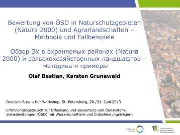 Bewertung von ÖSD in Naturschutzgebieten (Natura 2000) und ...
