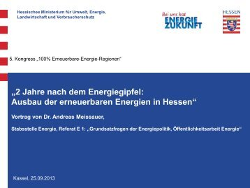 "Æ'Æ'Ausbau Erneuerbare Energien in Hessen - 5. Kongress ""100 ..."