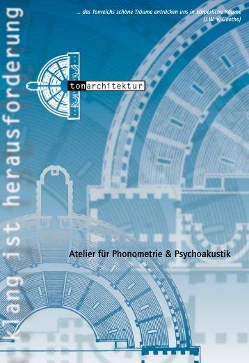 Atelier für Phonometrie & Psychoakustik - atelier-lev.com
