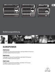EUROPOWER PMP6000/PMP4000/PMP1000 - Behringer