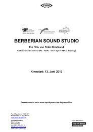 BERBERIAN SOUND STUDIO - Babylon Kino