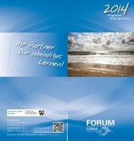 Bildungsurlaubsprogramm - Forum Unna