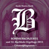 Konzert - Evangelische Kirchengemeinde ´St. Marien zu Barth