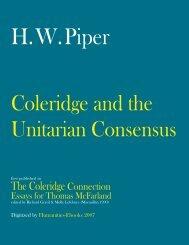 Coleridge and the Unitarian Consensus - Humanities-Ebooks