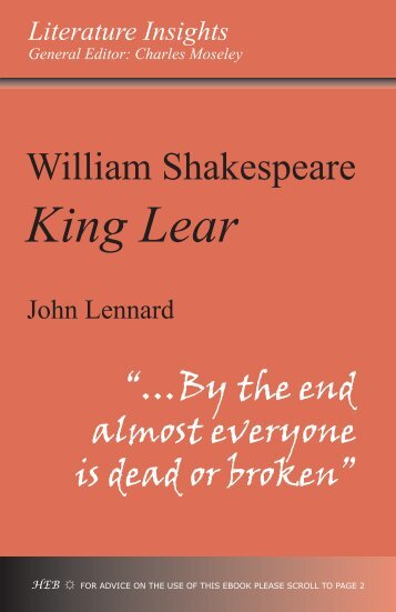king lear text  software