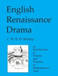 English Renaissance Drama - Humanities-Ebooks