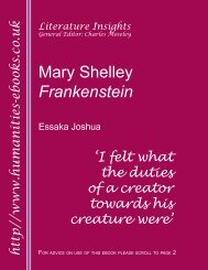 Mary Shelley: Frankenstein ISBN 978-1-84760-017-2 - Humanities ...