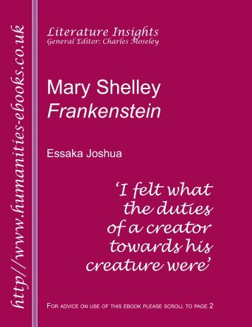 An analysis of the popularity of frankenstein by mary shelley