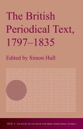 The British Periodical Text, 1797–1835 - Humanities-Ebooks