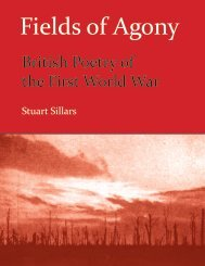 British Poetry of the First World War ISBN 978-1-84760-027-1