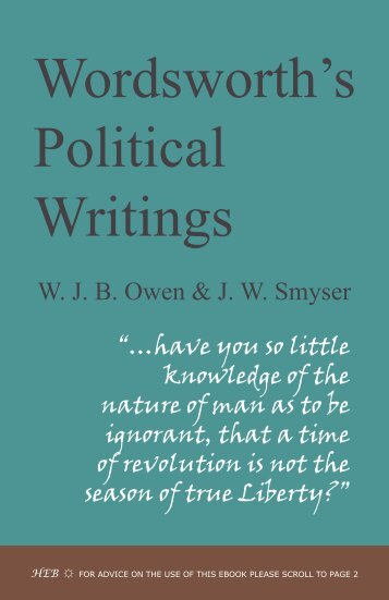 Wordsworth's Political Writings - Humanities-Ebooks