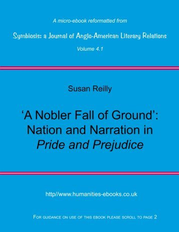 'A Nobler Fall of Ground': Nation and Narration in Pride and Prejudice