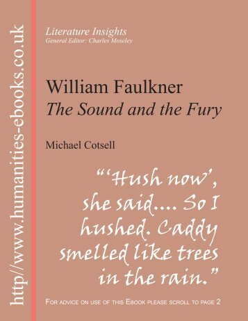 The Sound and Fury - Humanities-Ebooks