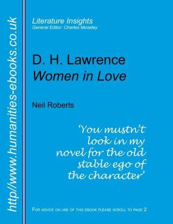 Women in Love - Humanities-Ebooks