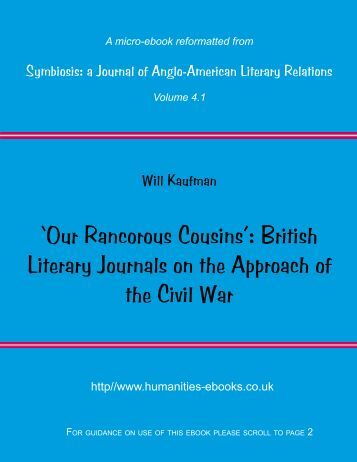 'Our Rancorous Cousins': British Literary Journals on the Approach ...