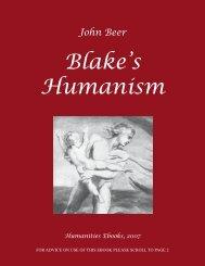 John Beer Blake's Humanism - Humanities-Ebooks