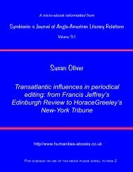 Transatlantic influences in periodical editing: from Francis Jeffrey's ...