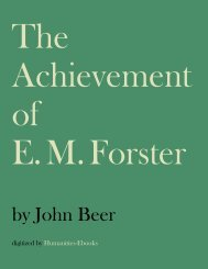 The Achievement of E. M. Forster - Humanities-Ebooks