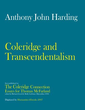 Help With Transcendentalism Essay?