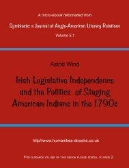 Irish Legislative Independence and the Politics of Staging American ...