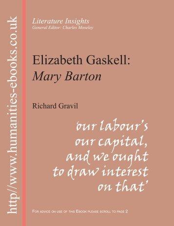 Elizabeth Gaskell: Mary Barton - Humanities-Ebooks